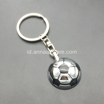 3D Football Metal Keychain dengan Spinning Football